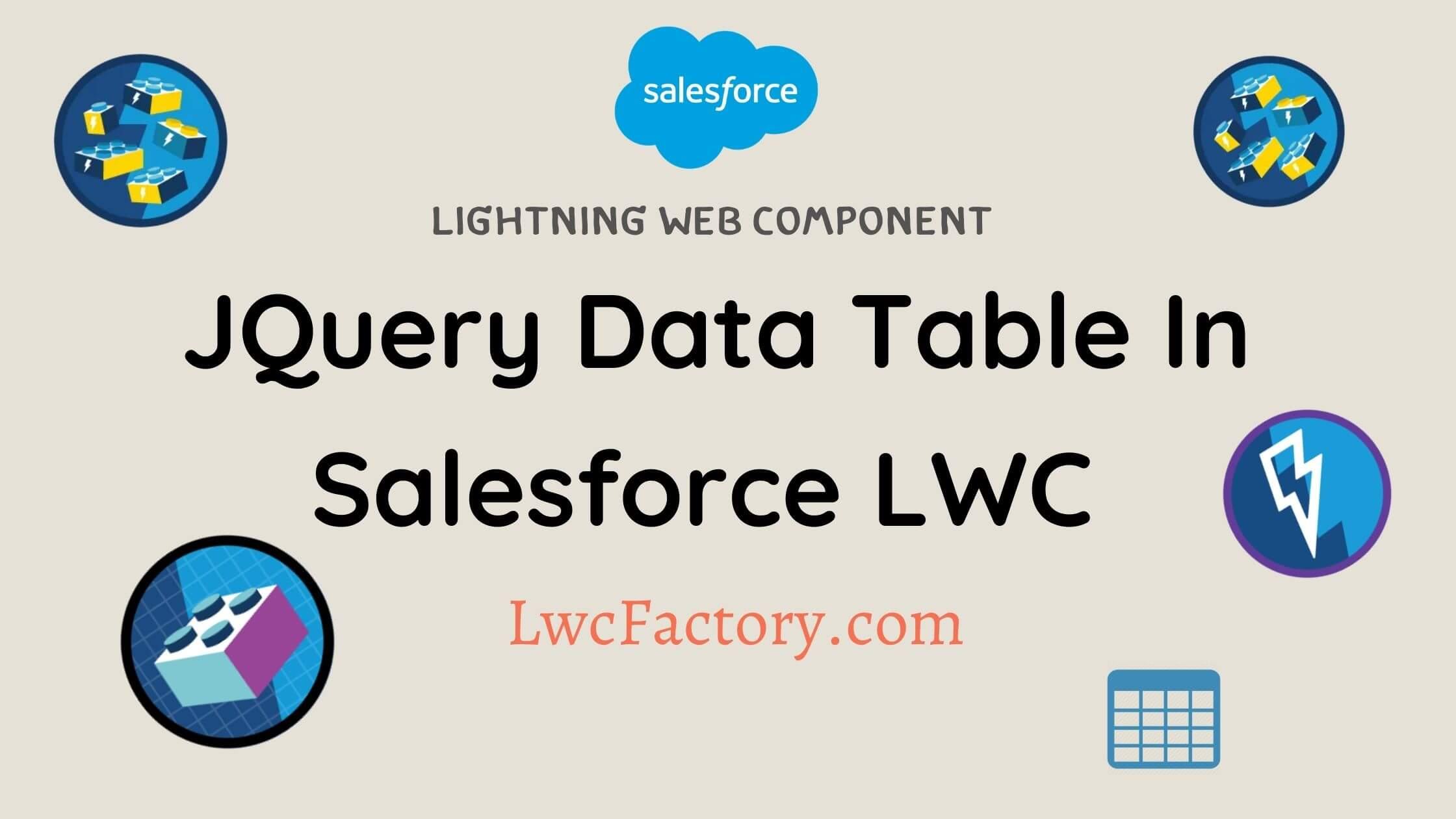 jQuery dataTable in LWC Image