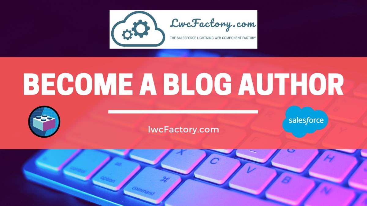 become a blog author